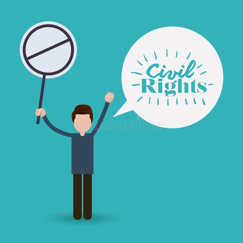 Civil rights design vector illustration. Civil rights design, vector illustration eps10 graphic vector illustration