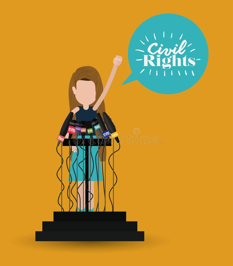 Civil rights design vector illustration. Civil rights design, vector illustration eps10 graphic royalty free illustration