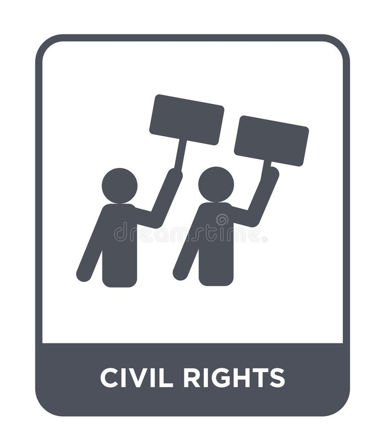 Civil rights icon in trendy design style. civil rights icon isolated on white background. civil rights vector icon simple and. Modern flat symbol for web site stock illustration