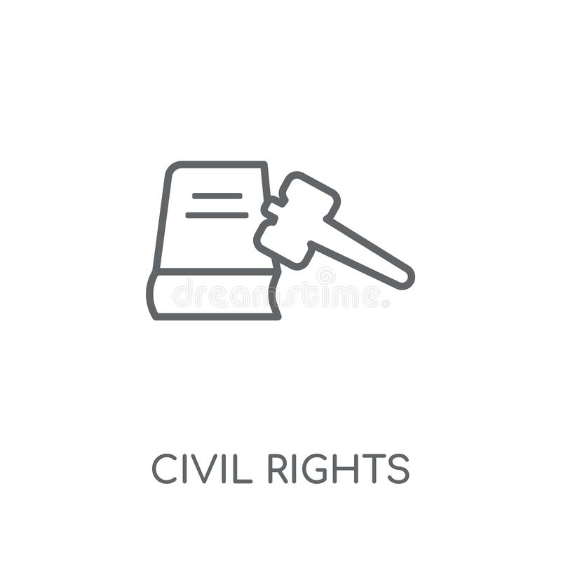 Civil rights linear icon. Modern outline civil rights logo conce. Pt on white background from law and justice collection. Suitable for use on web apps, mobile vector illustration