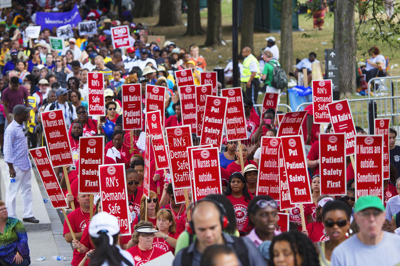 Civil Rights marchers royalty free stock images