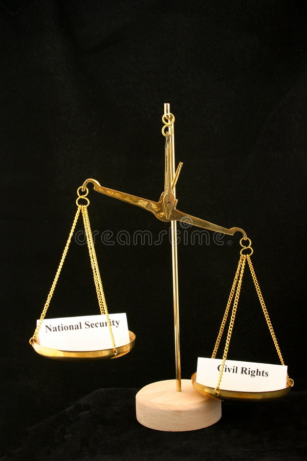 Free Civil Rights Outweigh National Security In The Balance Stock Photography - 1859962