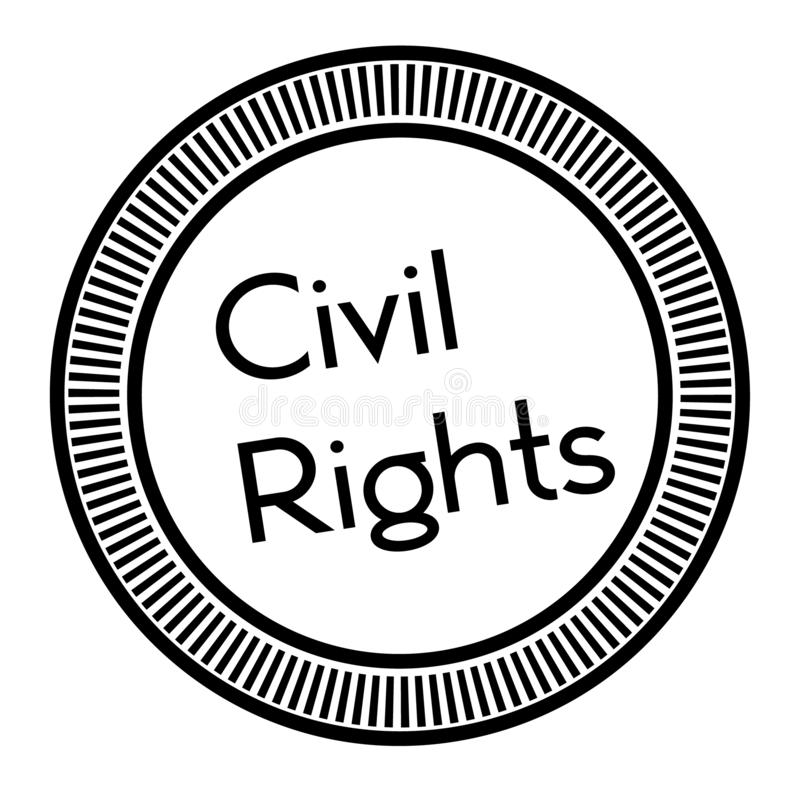 CIVIL RIGHTS stamp on white background. Stickers labels and stamps series royalty free illustration