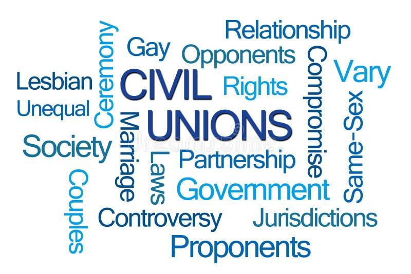 Civil Unions Word Cloud stock photos