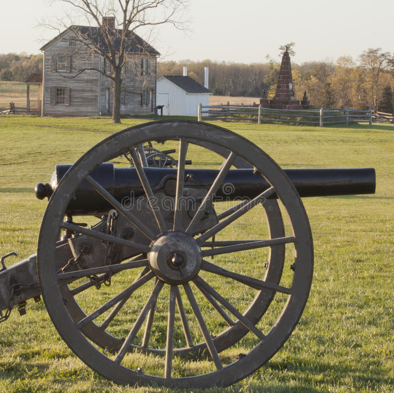 Civil War Battlefield at Manassas, Virginia. Manassas National Battlefield Park in Manassas, Virginia. This was the site of two important Civil War battles, one stock image