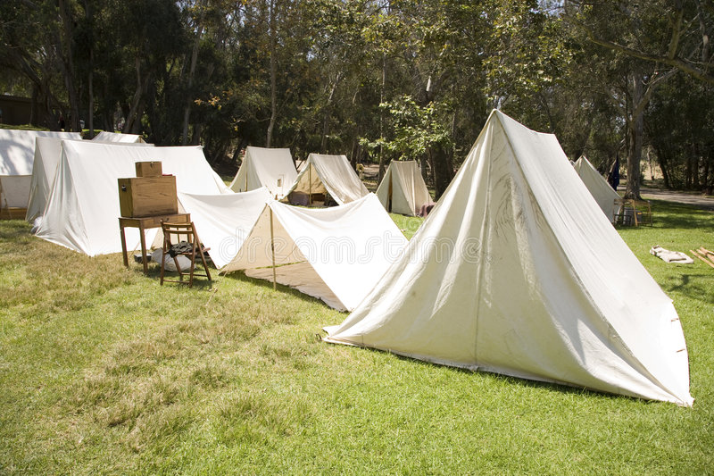 Civil War Bivouac royalty free stock images