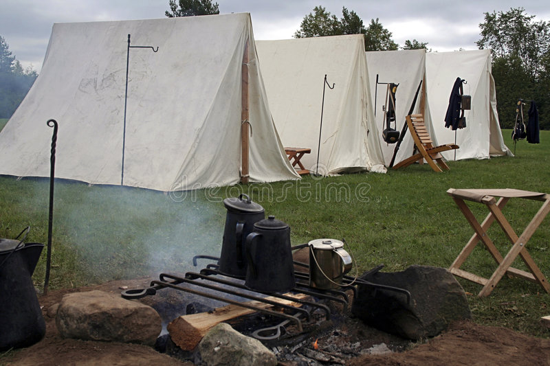 Civil War camp. This camp is part of a Civil War Reenactment royalty free stock images