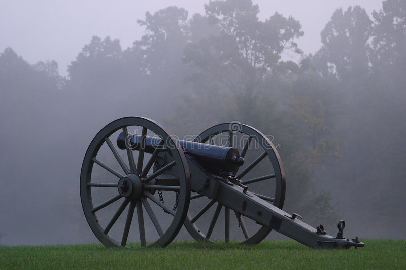 Civil War Cannon. In West Virginia royalty free stock image