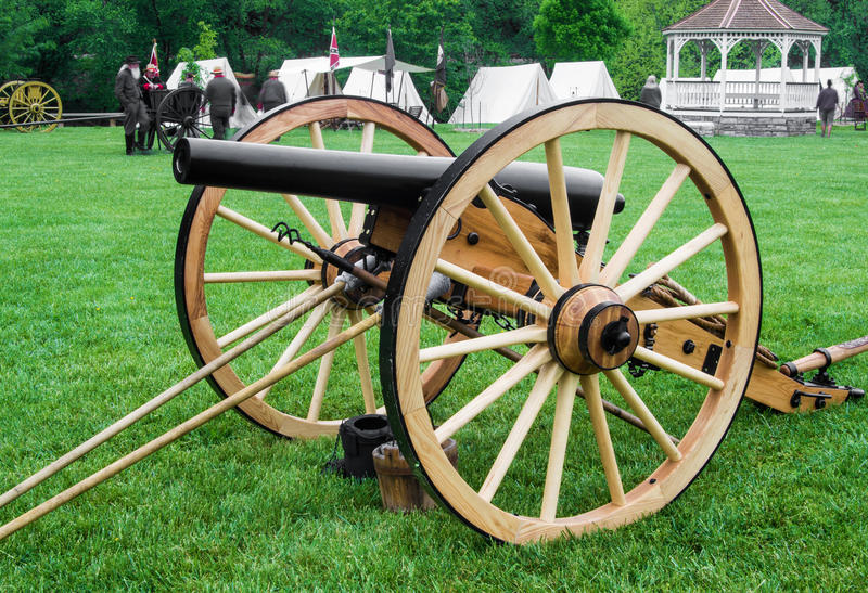 Civil War Cannon at Battle of Buchanan stock photo