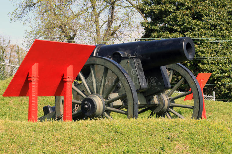 Civil War Cannon. On display in the Vicksburg Military Park located in Vicksburg Mississippi. This is the Widow Blakely it is the only specimen of British stock image