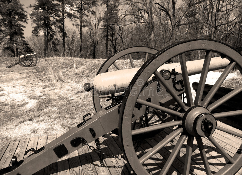Civil War Canon royalty free stock photography