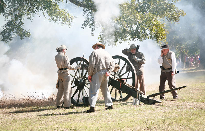 Civil War Canon Fire royalty free stock images