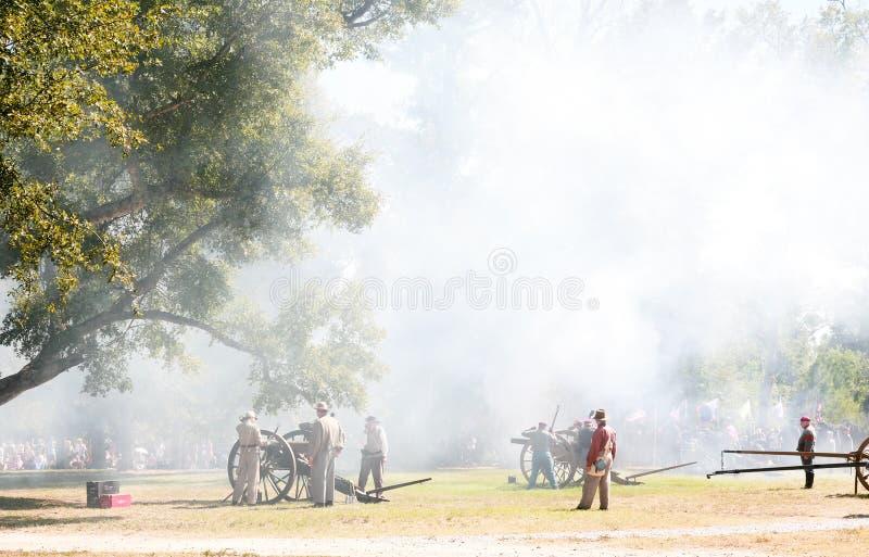 Civil War Canon Fire Editorial Image