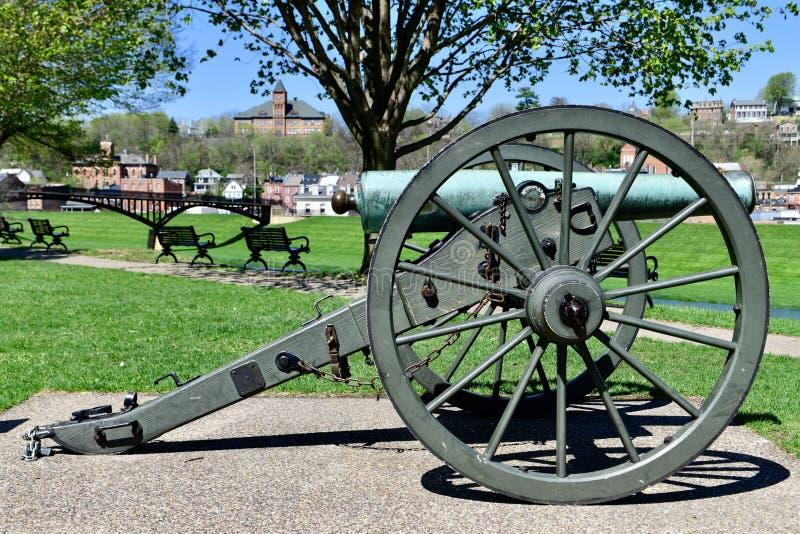 Civil War Canon stock photos