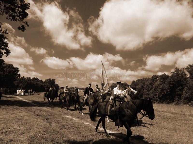 "CIVIL WAR CAVALRY REENACTMENT. SMITH MOUNAIN LAKE, VA - SEPT 7: Civil War CAVALRY REENACTMENT at the ""Franklin County Civil War Days"" on Sept 7, 2013 royalty free stock photos"