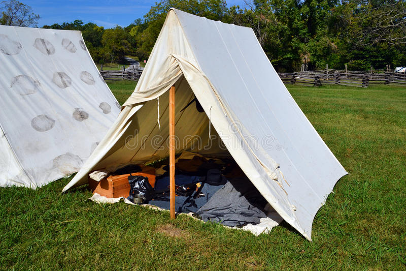 Civil War encampment royalty free stock photography