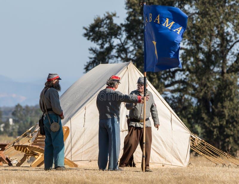 Civil War Era Camp stock photo