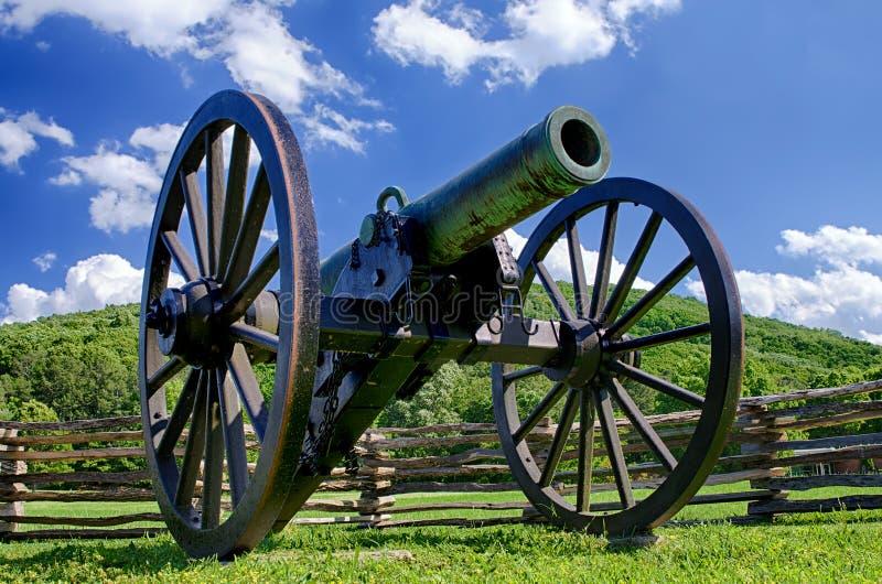 Civil War era cannon at Kennesaw Mountain National Battlefield Park stock image