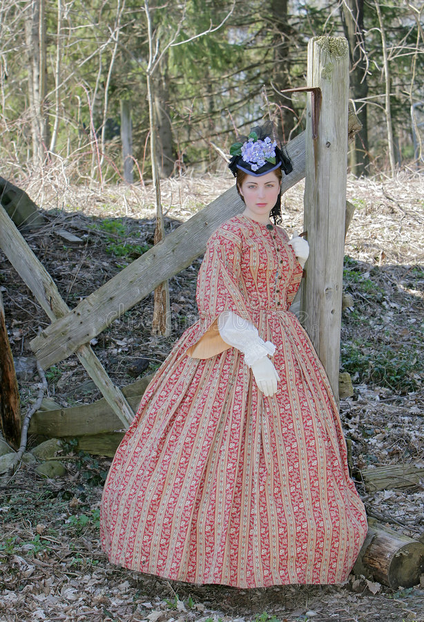 Civil war era woman royalty free stock image