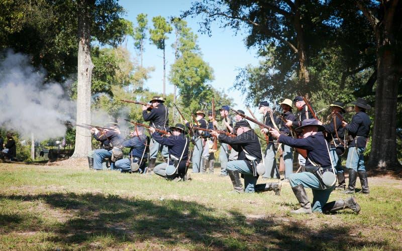 Civil War Gun Battle stock image