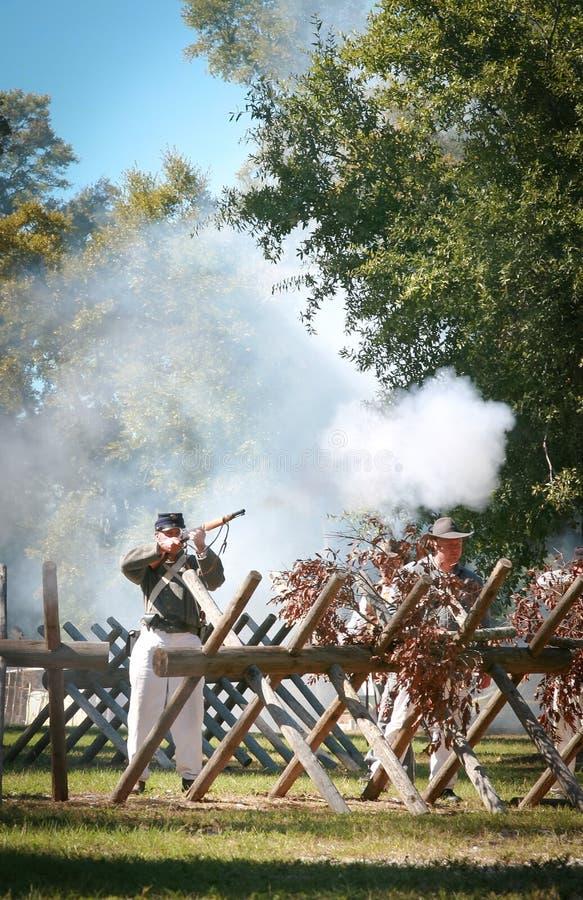 Civil War Gun Battle royalty free stock image