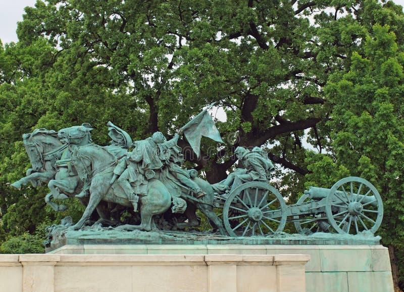 Civil War Memorial Statue Royalty Free Stock Photo