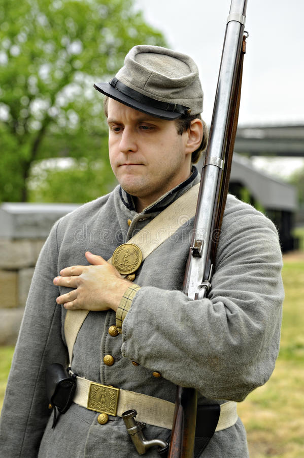 Civil War Militia Soldier reenactor stock photography