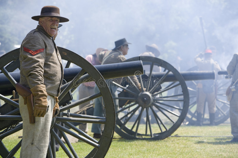Civil War Re-Enactment 29 - Confederate Cannons royalty free stock images