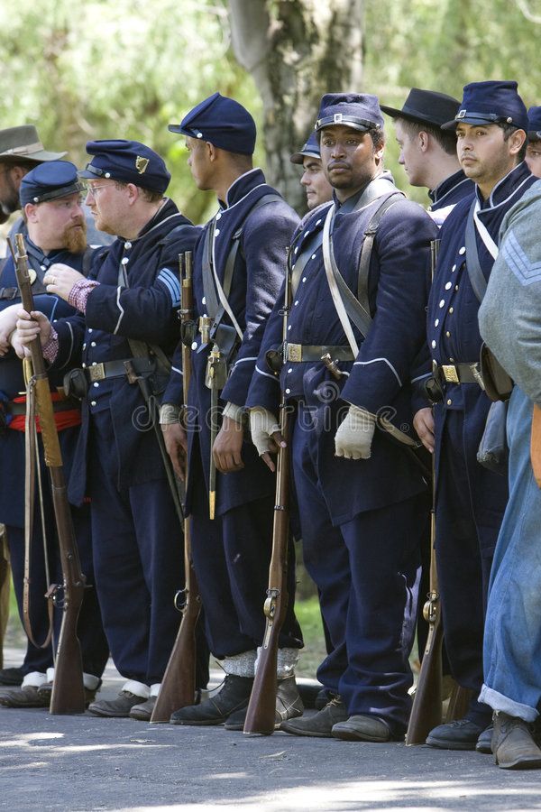Civil War Re-Enactment 36 - Union Soldiers royalty free stock photography