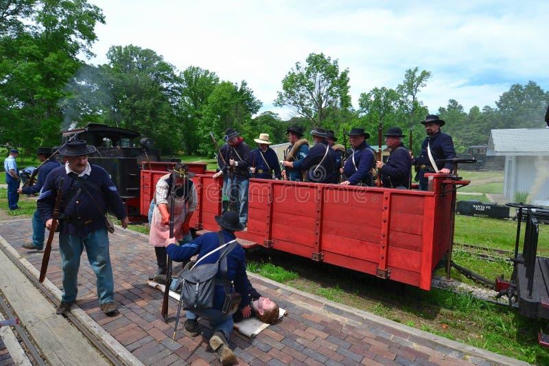 Download Civil War Reenacting Company F Editorial Photography - Image: 20054482