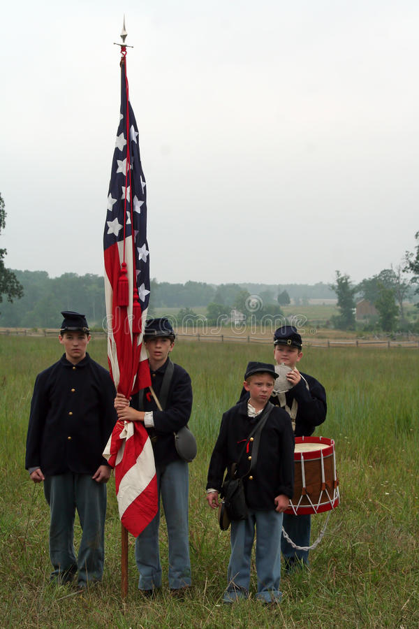 Civil War Reenactors stock photos