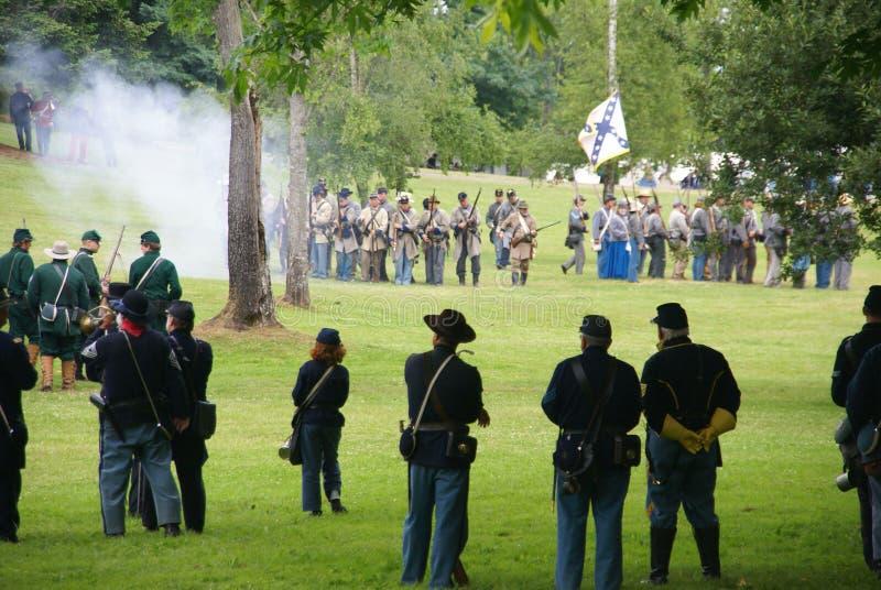 Download Civil War Reenactors Skirmish Editorial Stock Photo - Image: 10855083