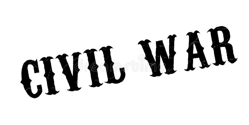 Civil War rubber stamp. Grunge design with dust scratches. Effects can be easily removed for a clean, crisp look. Color is easily changed vector illustration