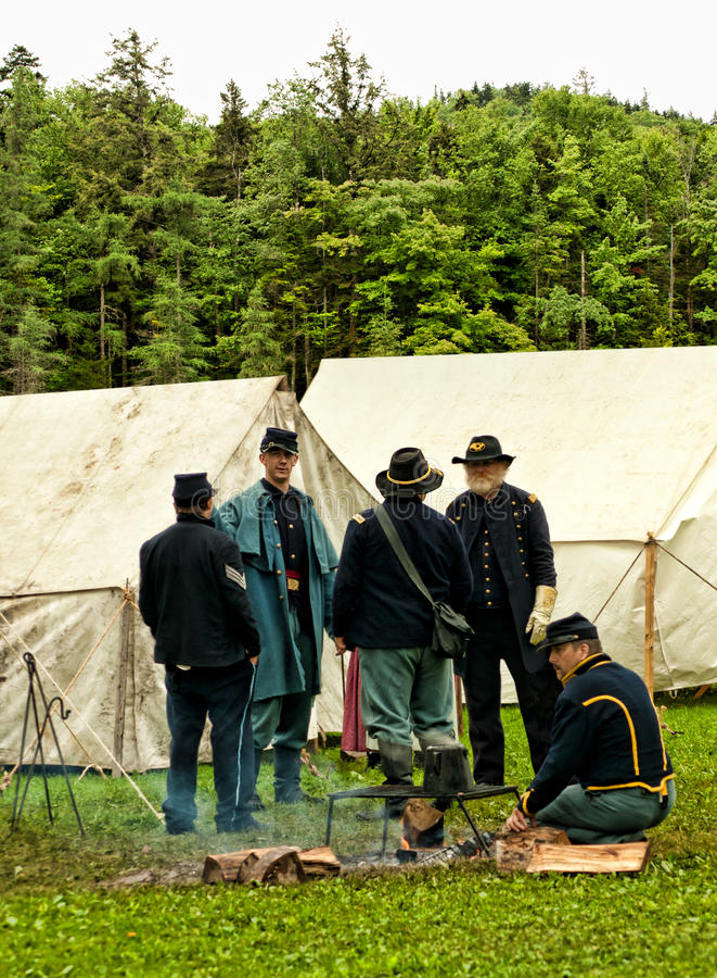 Civil war scene stock photo
