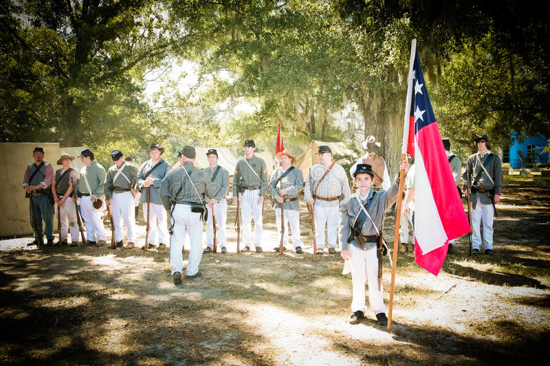Civil War Soldiers Ready for Battle royalty free stock image