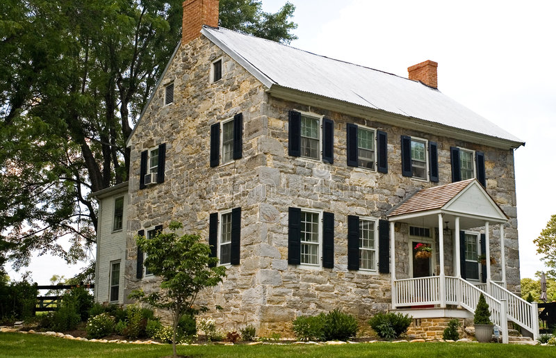 Download Civil War Stone House - 2 stock image. Image of lasting - 982005