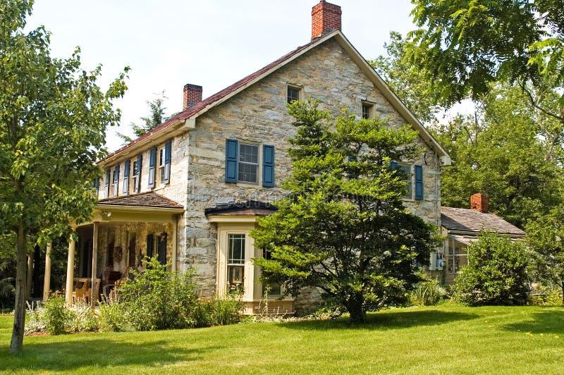 Civil War Stone House. Old Civil War era stone house on a corner in Maryland stock photo