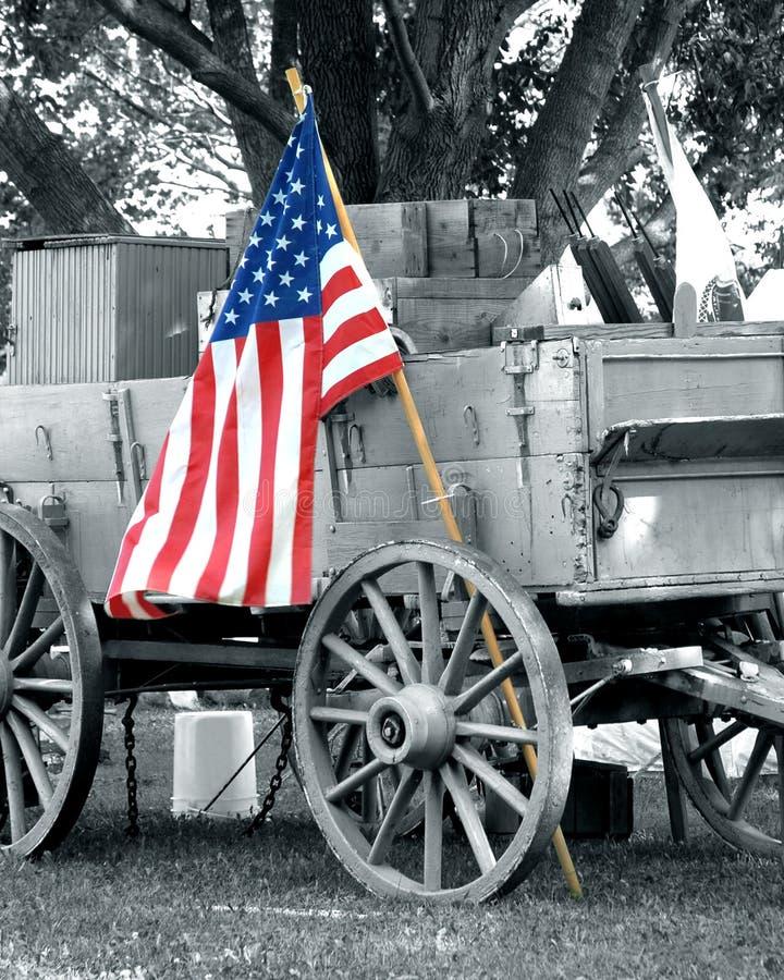 Download Civil War Wagon American Flag Stock Image - Image of historic, history: 2992061