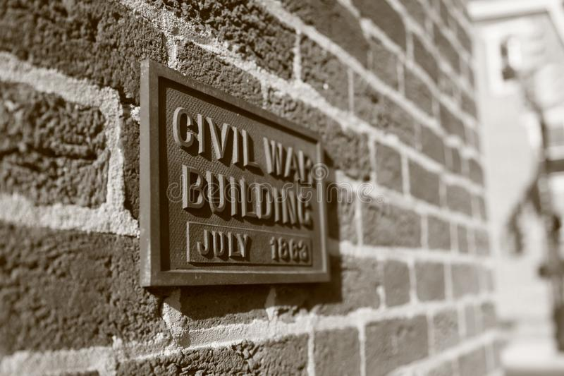 A civil way building July 1862 royalty free stock photo