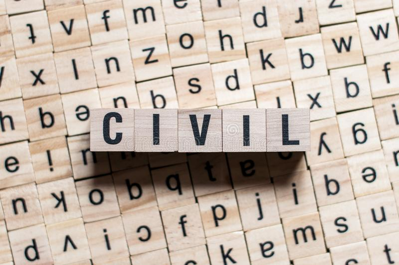 CIVIL word concept royalty free stock photography