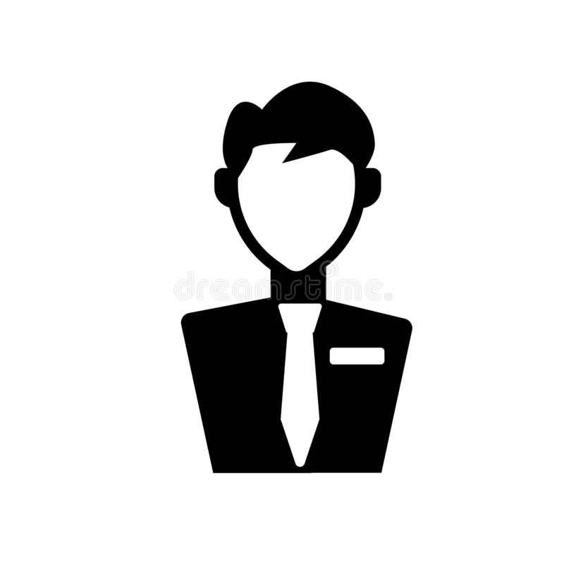 Civilian icon. Trendy civilian logo concept on white background. From army and war collection. Suitable for use on web apps, mobile apps and print media stock illustration