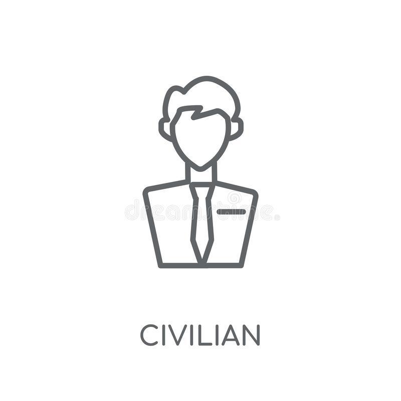 civilian linear icon. Modern outline civilian logo concept on wh vector illustration