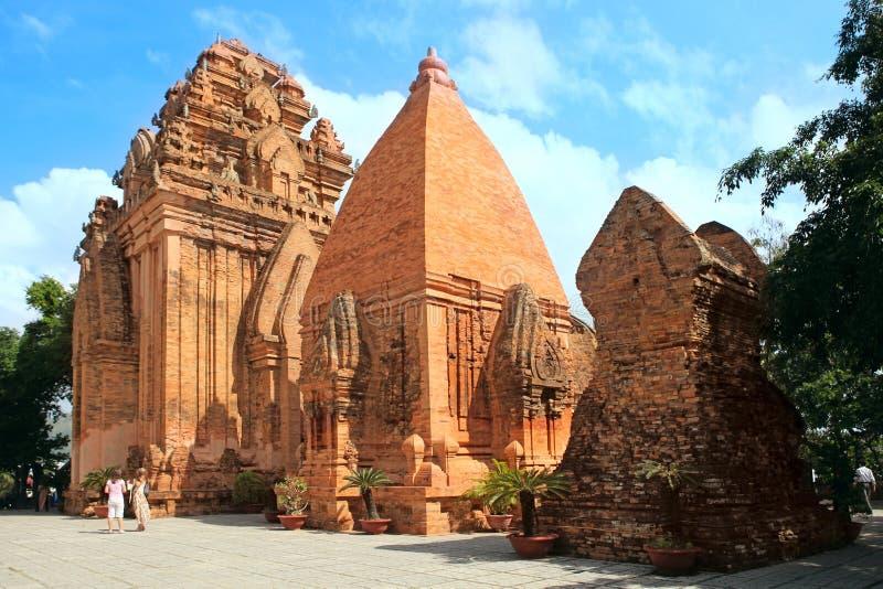 Civilisation de Cham de tours. Nha Trang, Vietnam photos libres de droits