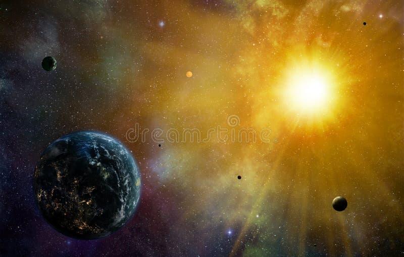Civilisation de planète illustration stock