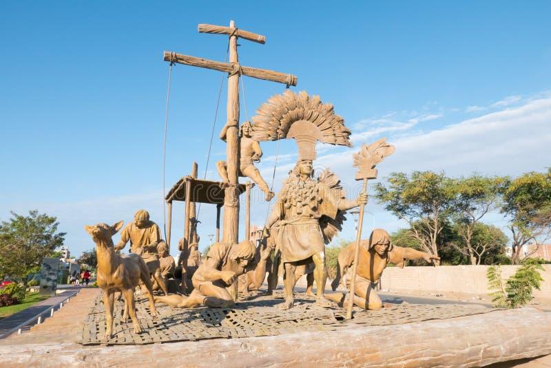 Civilisation précolombienne de débarquement Chiclayo Pérou image stock