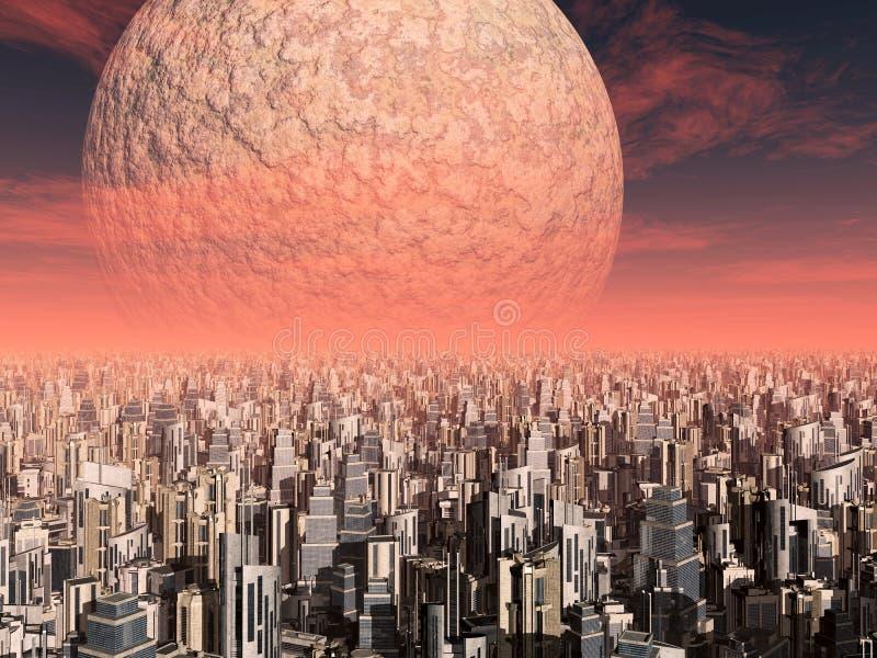 Civilização do Extraterrestrial ilustração royalty free