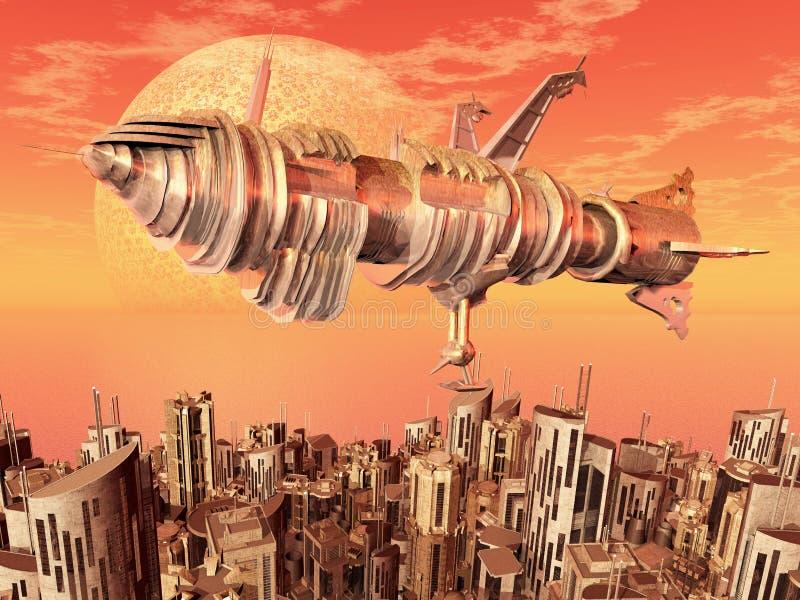 Civilização do Extraterrestrial ilustração do vetor