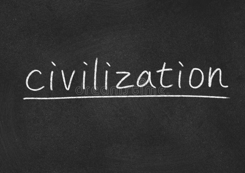 Civilization. Concept word on blackboard background stock photo