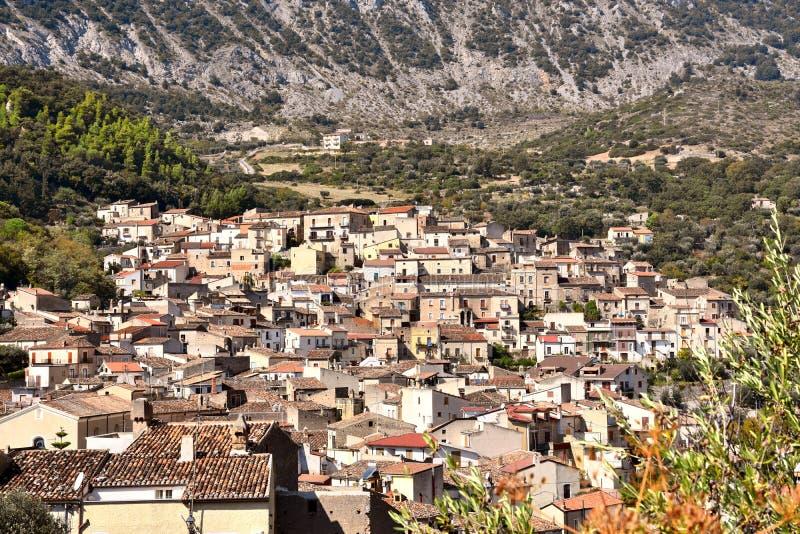Civita, Albanese gemeenschap in Calabrië royalty-vrije stock afbeelding