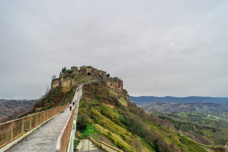 Civita di Bagnoreggio stock image. Image of hill, tuff - 76458069